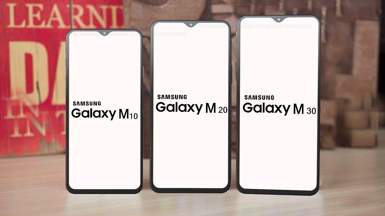 Samsung Galaxy M10-Samsung Galaxy M20-Samsung Galaxy M30