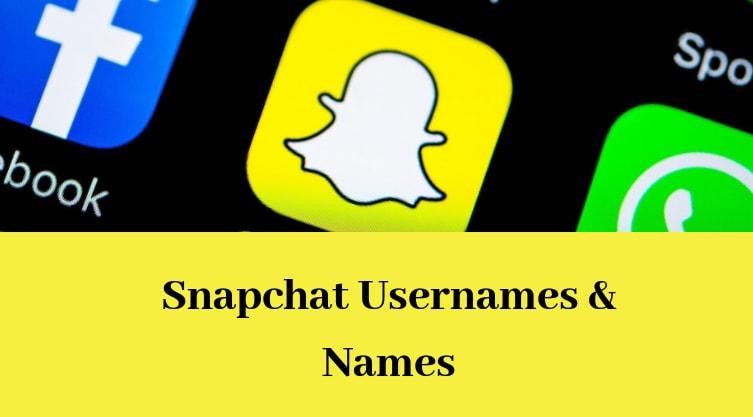 snapchat names