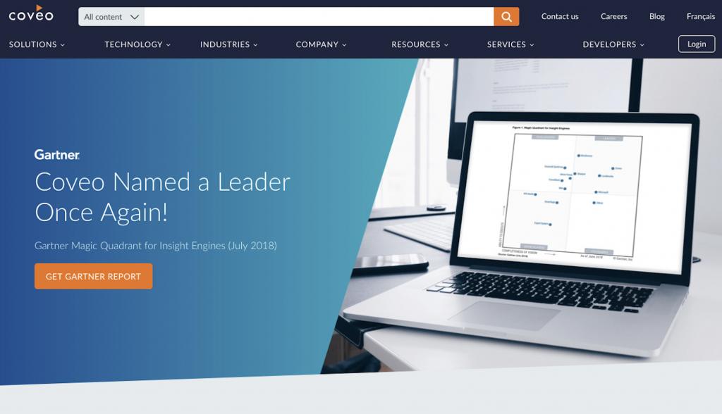 Coveo Website builder