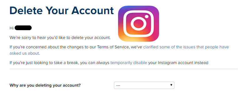 How to Delete Instagram Account -Delete My instagram Account Permanently
