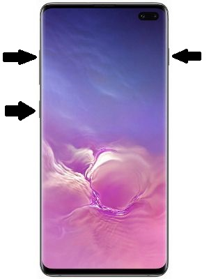 How to Hard reset samsung S10+ STEP 2