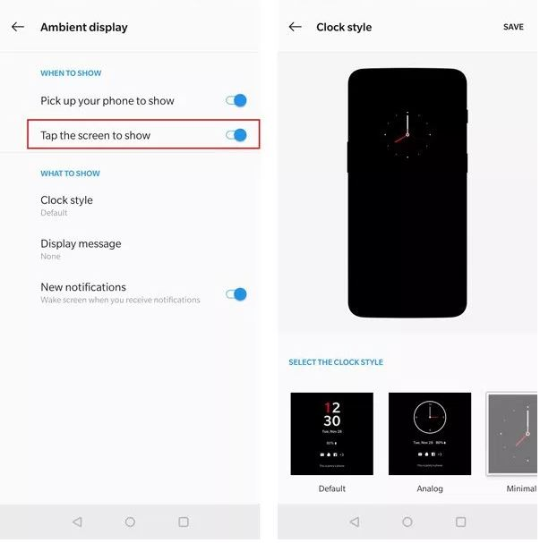 Ambient Display in oneplus 7 and oneplus 7 pro