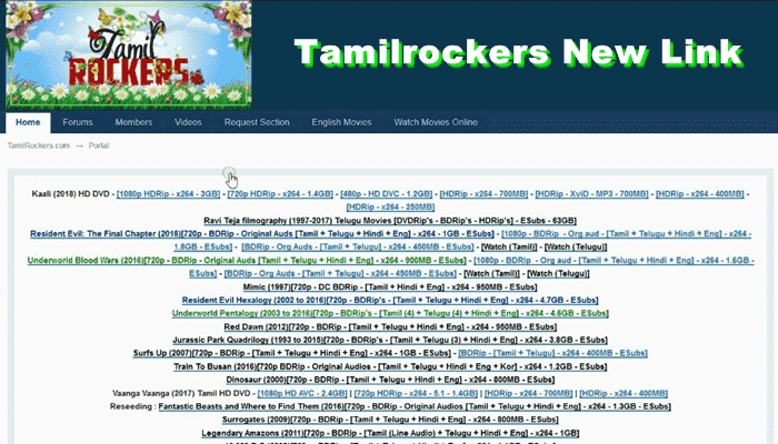 TamilRockers Latest Website: Tamilrockers Malayalam, Hindi Dubbed Movies free