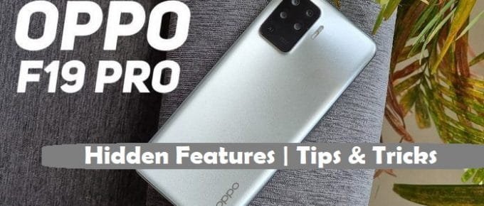 Oppo F19   F19 Pro Hidden Features   Tips and Tricks