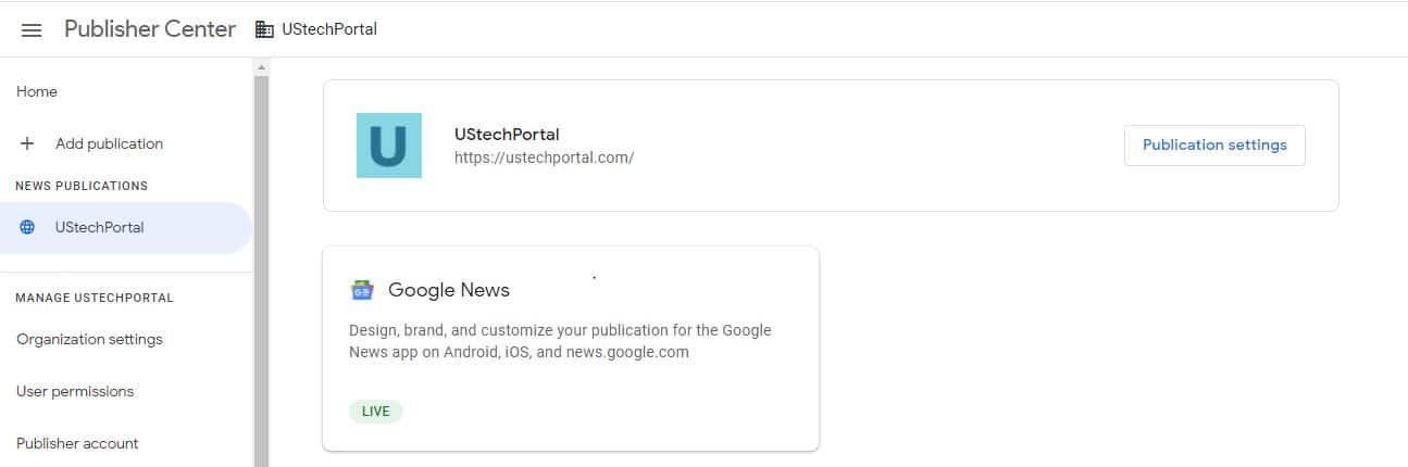 UStechportal.com Google News Approve