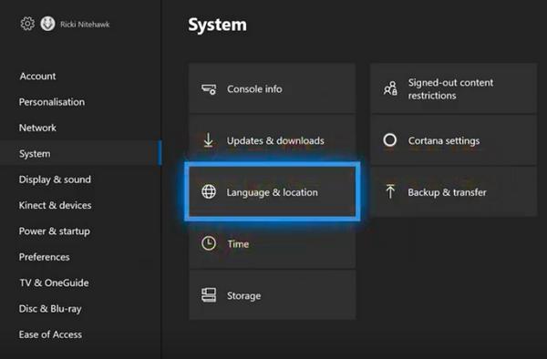 Change your Region settings Xbox Error code 0x8027025a?