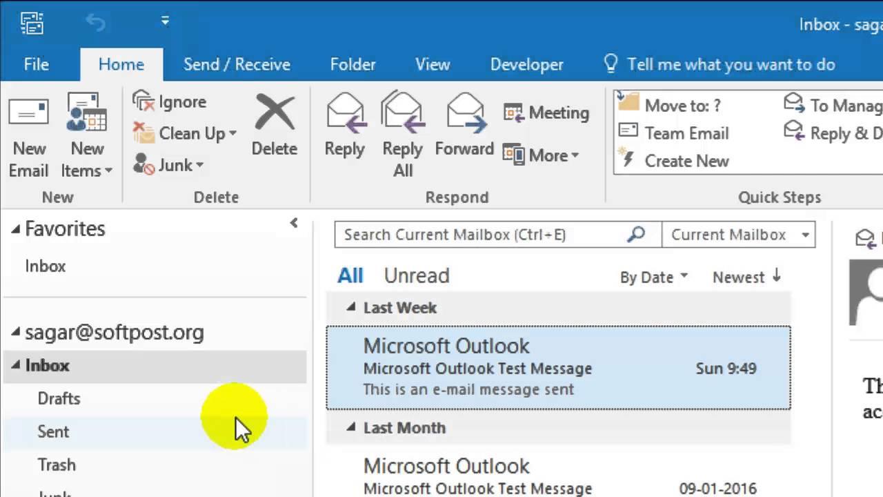 Microsoft Outlook Refresh