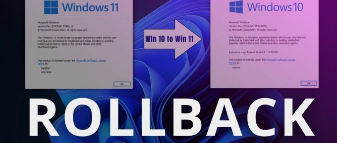 How to RollBack From Windows 11 to Windows 10