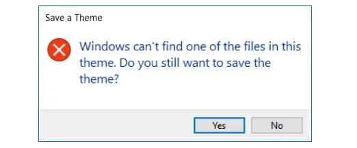 What is Causing Windows Cannot Find one of these Files Error Messages?
